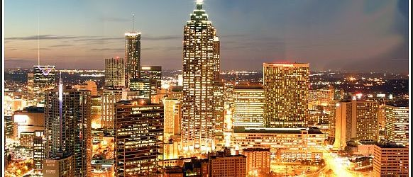 Atlanta Downtown di notte