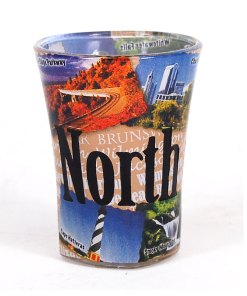 North Carolina Color Shot Glass