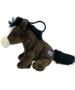"Montana Horse 4"" Clip on Plush Side View"