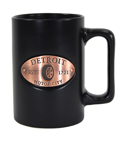 Detroit Black Copper Medallion Mug
