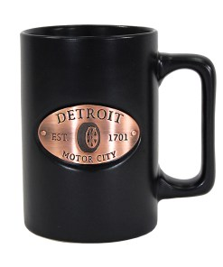 Detroit Black Copper Medallion Mug