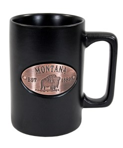 Montana Black Copper Medallion Mug