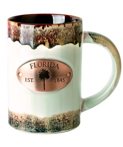 Florida Copper Medallion Green Mug