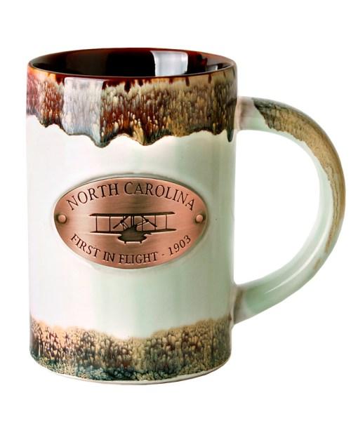 North Carolina Copper Medallion Green Mug