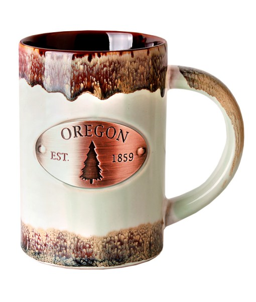 Oregon Copper Medallion Green Mug