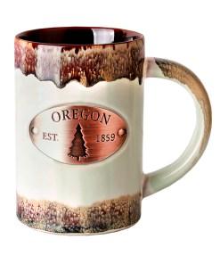 Oregon Copper Medallion Green Mug