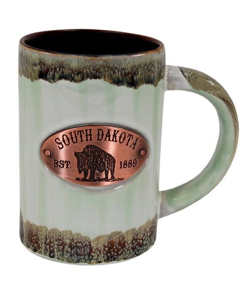 South Dakota Copper Medallion Mug Green