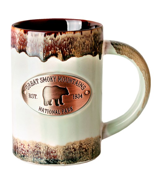 Smoky Mountanis Copper Medallion Green Mug