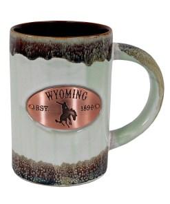 Wyoming Copper Medallion Green Mug