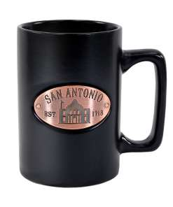 San Antonio Black Matte Copper Medallion Mug