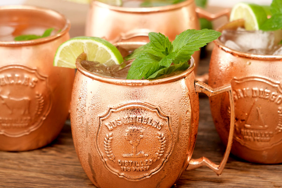 Copper Mule Mug with mint and Lime