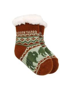 Montana Infant Bison Pattern Socks
