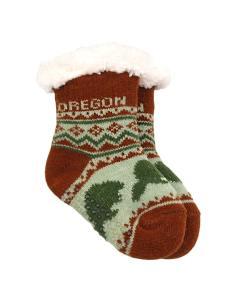 Oregon Infant Beaver Pattern Socks