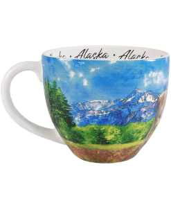 Alaska Watercolor Mug Drinkers Left