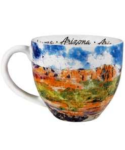 Arizona designed watercolor mug left side