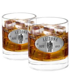 Two Arizona Whiskey Glasses