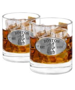 Two Boston Whiskey Glasses