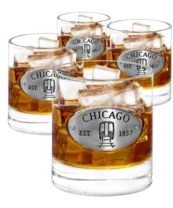 Chicago 4 Whiskey Glasses