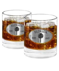 Two Florida Whiskey Glasses