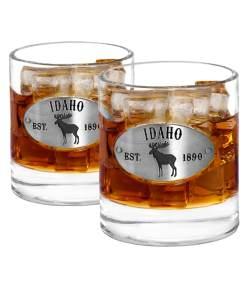 Two Idaho Whiskey Glasses