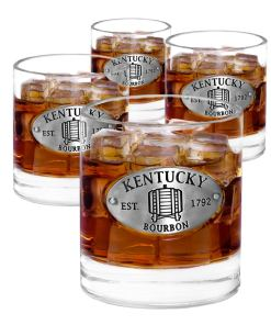 Kentucky 4 Whiskey Glasses
