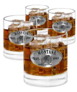 Montana 4 Whiskey Glasses