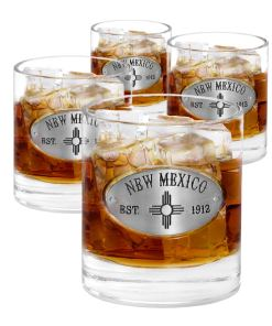 New Mexico 4 Whiskey Glasses