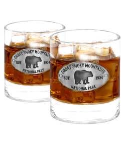 Two Smoky Mountains Whiskey Glasses