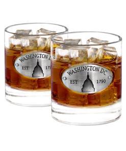 Two Washington DC Whiskey Glasses