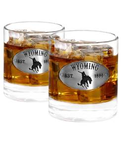 Two Wyoming Whiskey Glasses