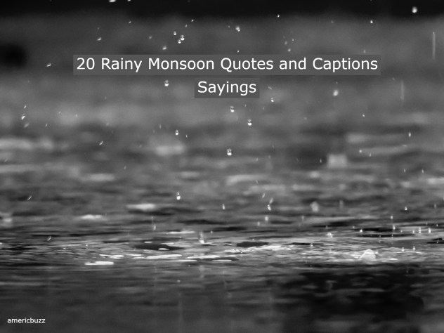 20 Rainy Monsoon Quotes and Captions Sayings