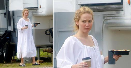 jennifer lawrence arrives on set of red white and water 1623442885082