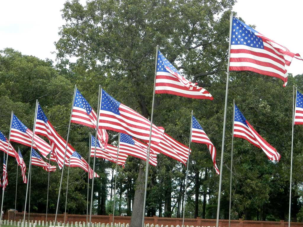 Flags at Andersonville near Providence Canyon State Park