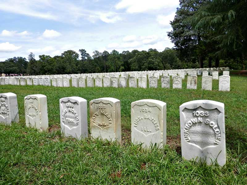 Andersonville National Historic Site near Providence Canyon State Park