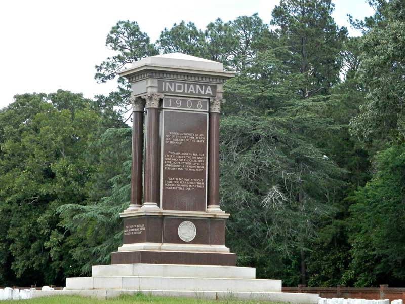 Indiana Monument near Providence Canyon State Park