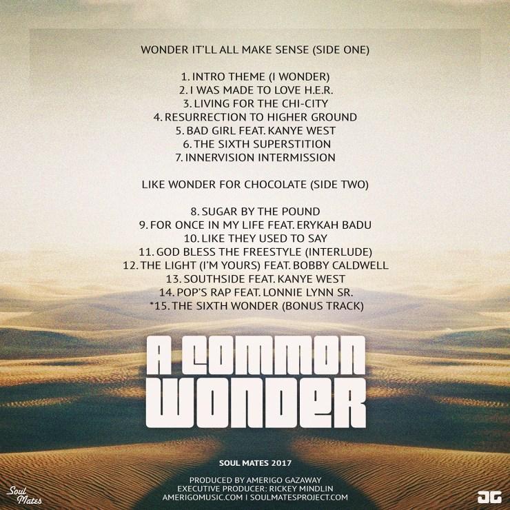 A Common Wonder - Tracklist