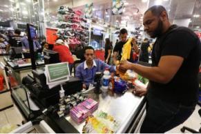 Bezahlung per Petro-App im Supermarkt