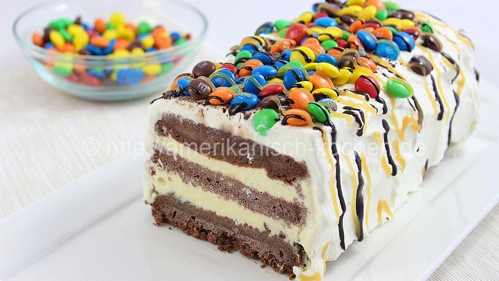 MM Ice Cream Cake Cremige Eistorte mit MMs