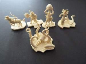 De mini's van de mythologische wezens.