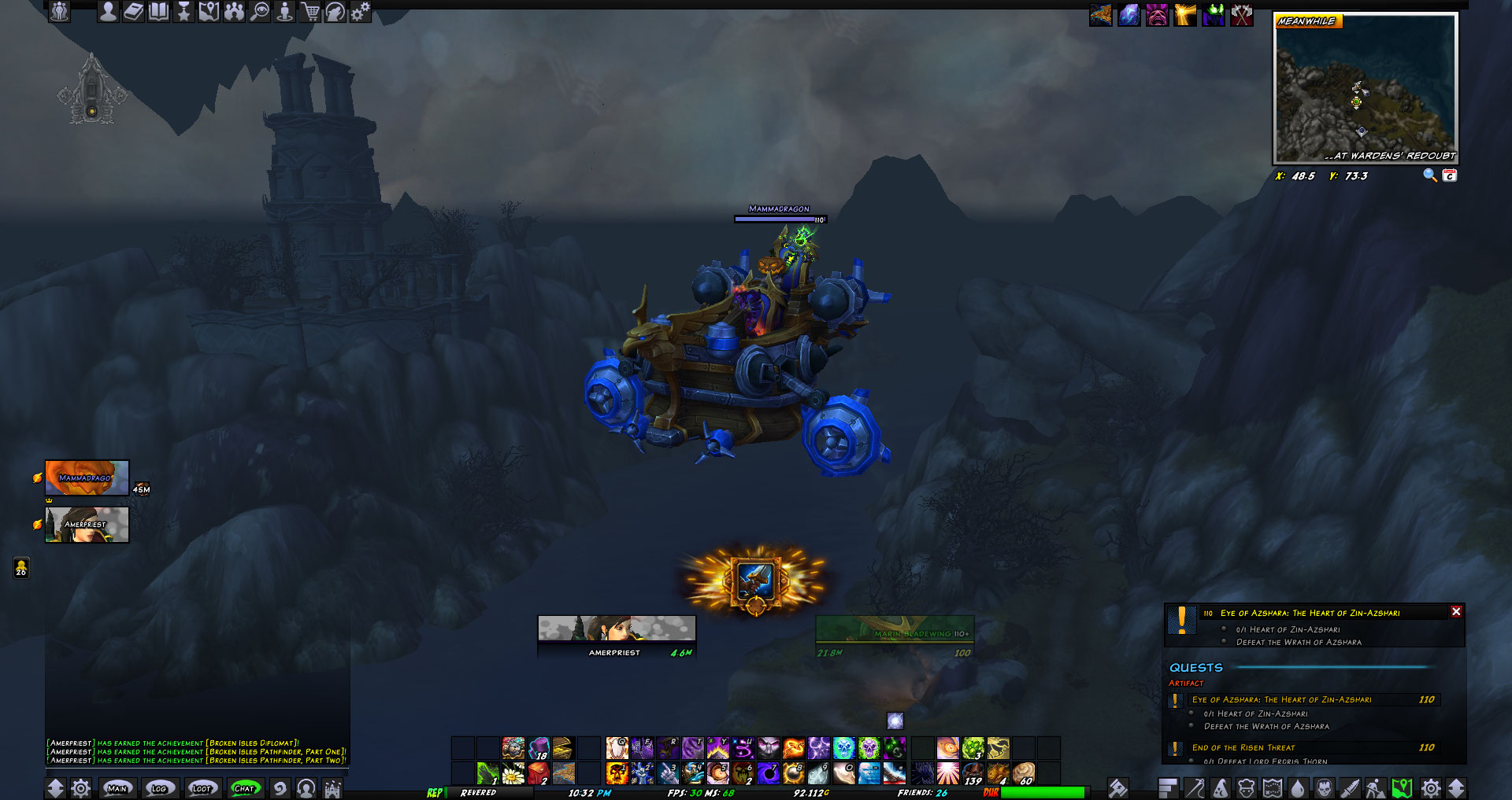 Guys I Can Fly In Broken Isles Now Yay
