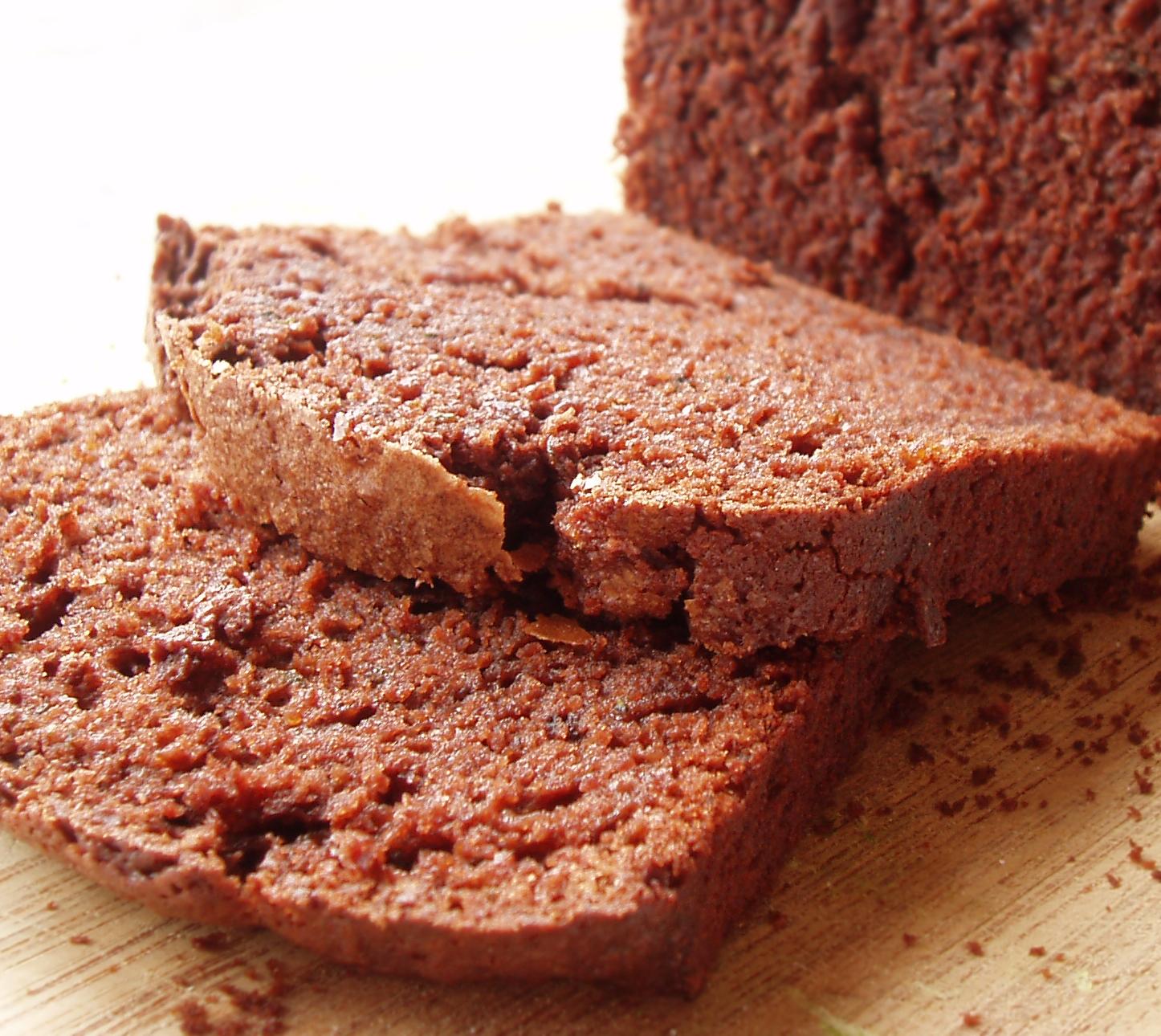 chocolate orange cake sliced