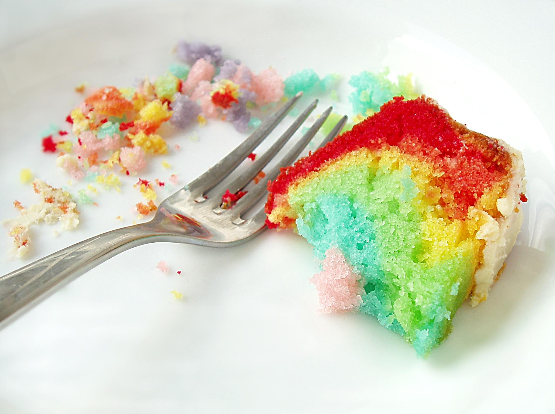 rainbow cake crumbs