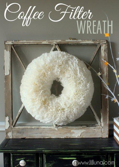 cheap christmas ideas - diy coffee filter wreath
