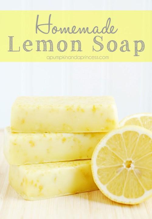 cheap christmas ideas - diy lemon soap