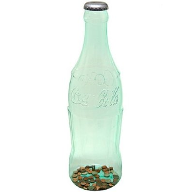 coke bottle piggy bank