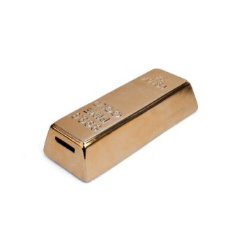 gold bar piggy bank for adults