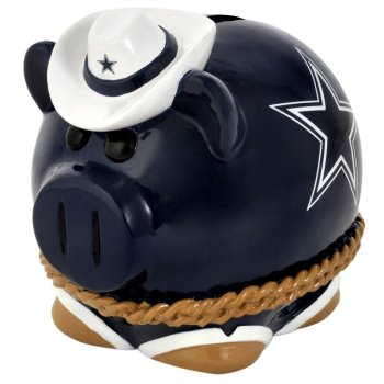 dallas cowyboys football piggy bank for adults or kids