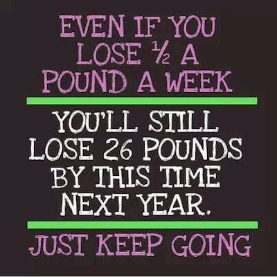 weight loss motivation quote - half pound