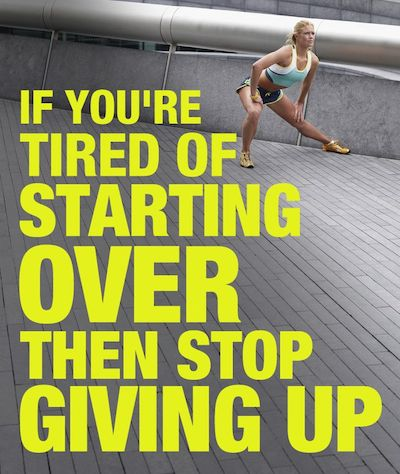 weight loss motivation quote - starting over
