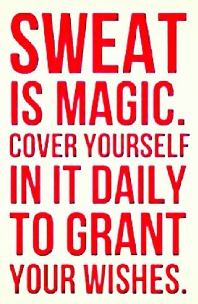 weight loss motivation - sweat is magic